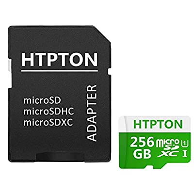 HTPTON 256GB Micro SD SDXC Card High Speed Class 10 Memory SD Card with SD Adapter from HTPTON