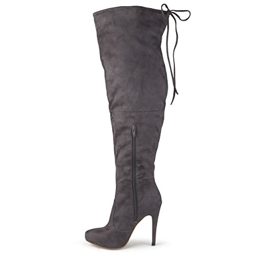 Womens Grey Boots the Collection High knee Over Heel Journee Zf5n8WqW