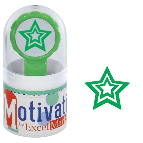 Star Inked Pre (Motivations Pre-inked Teacher Stamp - Star - Green Ink)