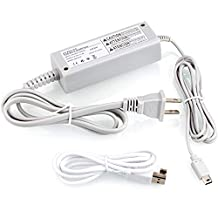 LANIAKEA AC Adapter for Wii U Gamepad, Power Supply Cord, Interchangable Power Charging Adapter, Professional Designed for Nintendo, with USB Cable