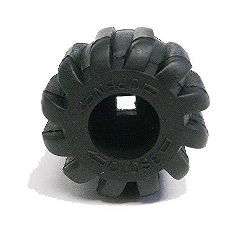 Trident Generic Scuba Air Tank/Cylinder Valve Knob, Black
