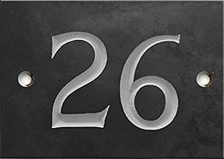de28999f1c9e8 Engraved Slate House number sign - 1 to 99 (select your number here ...