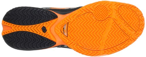Lotto Sport RAPTOR ULTRA IV CLAY Q3777 - Zapatillas de tenis de caucho para hombre Negro (Schwarz (BLK/HALL.ORANGE))