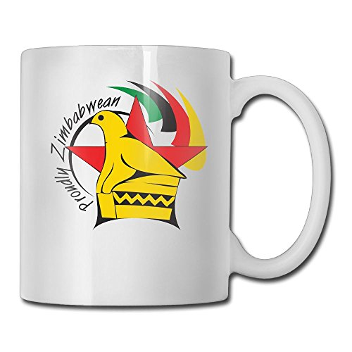 LoveoorheebGHu Funny Flag Of Zimbabwe Unique Coffee Mug 11 Oz White Ceramic Cup For Tea