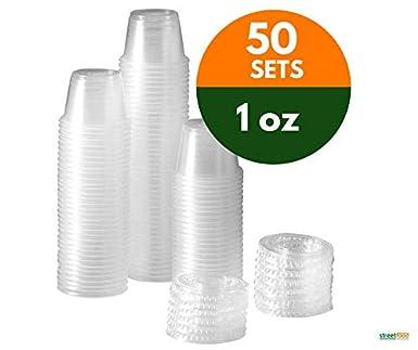 4oz H//Duty Clear Plastic Chutney Cups With Lids//Sauce Pots//Deli Pots//Desserts