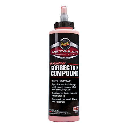 Meguiar's DA Microfiber Correction Compound - Auto Compound Removes Surface Defects - D30016, 16 oz