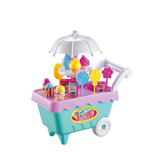 Metal Dragon 77th Ice Cream Candy Cart Toys Supermarket Trolley