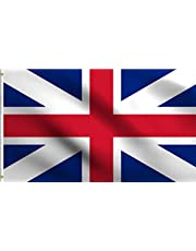 DMSE Kings Colors Historic Union Jack British Britain UK Flag 3X5 Ft Foot 100% Polyester 100D Flag UV Resistant