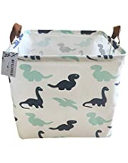 Canvas Storage Bins Toy Basket Collapsible Box Chest Organizer Water-Resistant Nursery for edroom, Closet, Kid's Toys, Laundry