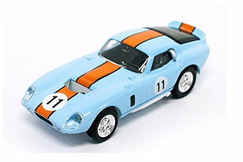 Road Signature 1965 Ford Shelby Cobra Daytona Coupe, Light Blue w/ Orange - Lucky 94242LBU - 1/43 Scale Diecast Model Toy Car