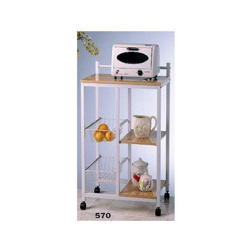 Natural Finish Microwave Cart - 5