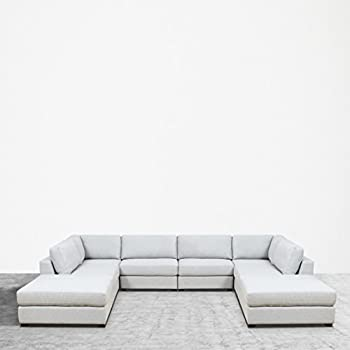 UrbanFurnishing.net REED 8 Piece Modular Customizable And Reconfigurable Deep  Seating Sofa Sectional