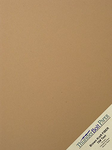 500 Brown Kraft Fiber 28/70# Text (NOT card/cover) Paper Sheets - 8.5'' X 11'' - 70lb/pound Weight (8.5X11 Inches) Standard Letter|Flyer Size - Rich Earthy Color with Natural Fibers - Smooth Finish by ThunderBolt Paper