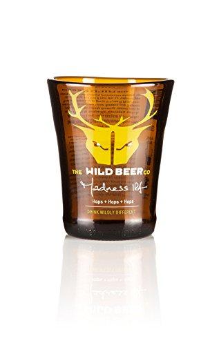 Reciclado verde Wild – corto vaso de cerveza único, vidrio transformado en Devon por reforma