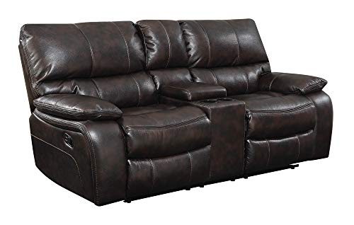 - Coaster Home Furnishings 601932 CO-601932 Willemse Collection Motion Loveseat, Two-Tone Dark Brown