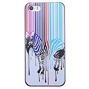 iPhone 5S Case, WKell Cartoon Colorful Zebra Pattern Back Case for iPhone 5/5S