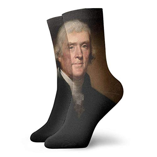 Eletina gown Striped Wool Hiking Crew Socks Mens , Unisex Cute Funny Casual Cotton Crew 3D Print Thomas Jefferson Work Sport Outdoor Soccer Socks, Pure White Tube]()