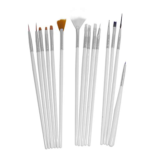 GTNINE Nail Art Brushes Design Dotting Painting Drawing Gel Nail UV Polish Brush Pen Tools Set ()