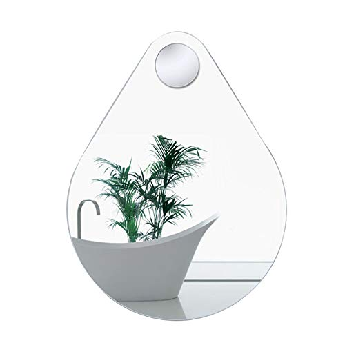 - Mirror, Bathroom Wall Hanging, Simple Modern Drop-Shaped, with Magnifying Glass, HD Waterproof Explosion-Proof