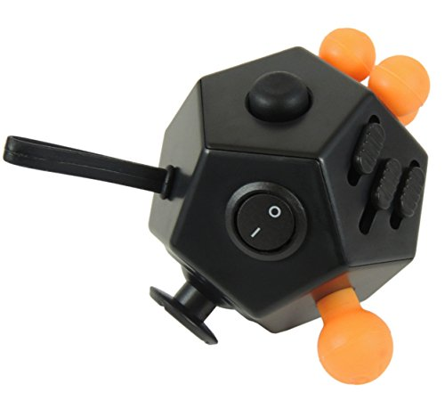 Fidget Toys Set – Helps Adults and Children with Anxiety, Autism, ADHD, Stress Relief & Concentration- Includes Fidget Cube, 12 Sided Cube, and Fidget Spinner - 3
