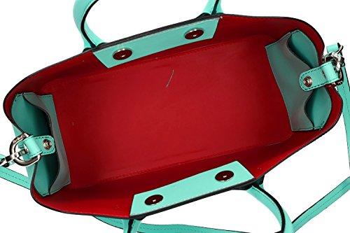 Borsa donna con tracolla PIERRE CARDIN verde acqua pelle Made in Italy VN1157 Genuina Precio Barato Remoción De Nuevos Estilos Comprar La Venta En Línea VjxMAk0t
