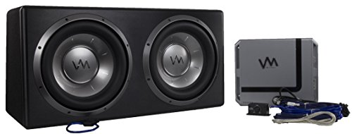VM Audio Dual 10'' Elux Sealed 4200 Watt Car Stereo Subwoofer Box with Amp by VM Audio (Image #9)