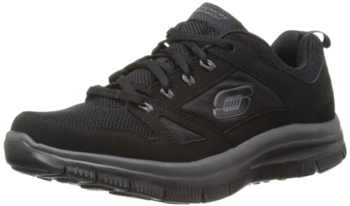 Skechers Men's Flex Advantage Memory Foam Training Shoe,Black,10.5 M US