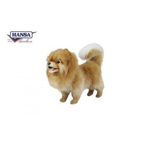Hansa Pomeranian Dog Standing Plush Dog by Hansa