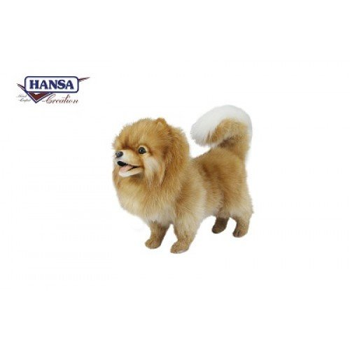 Hansa Pomeranian Dog Standing Plush Dog from Hansa