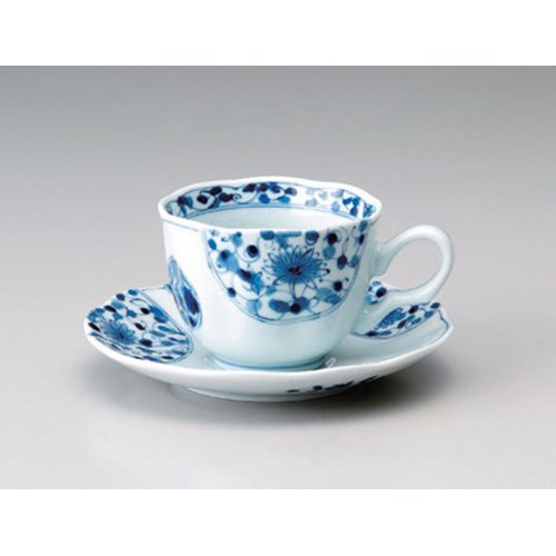 Cup And Saucer utw665-9-374 [plate 6.2 x 1 inch] Japanece ceramic Flower Imari coffee Wansara (Imari Coffee Saucer)