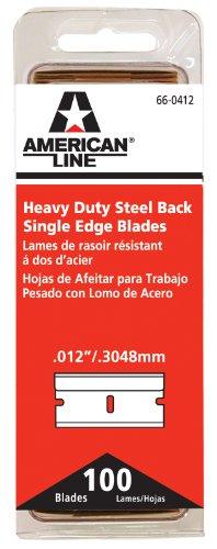 American Safety Razor 66-0412 Heavy-Duty Single Edge Razor Blades, 100-Pack ()