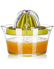 Yimobra Citrus Lemon Orange Juicer Manual Squeezer Lime Press with Strainer Built-in Measuring Cup and Grater Anti-Slip Reamer Extraction Egg Separator, 12 OZ, Green