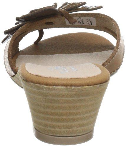 Vista 90-5708-brn - Zuecos de cuero para mujer Marrón (Braun (Braun))