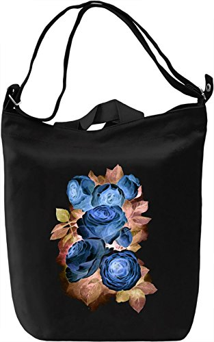 Watercolor Flower Borsa Giornaliera Canvas Canvas Day Bag| 100% Premium Cotton Canvas| DTG Printing|