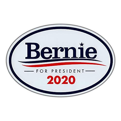 Oval Campaign Magnet - Bernie Sanders 2020 - Democrat President - Magnetic Bumper Sticker - 6
