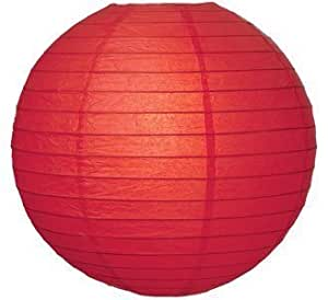"2 Pack - Party Paper Lantern-Round 12""-Luau Supplies- Oriental/Chinese Lamps - Red"