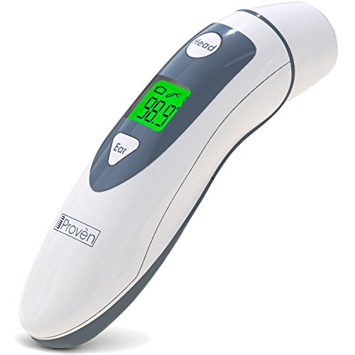 Medical Ear Thermometer with Forehead Function - iProven DMT-489 - Upgraded Infrared Lens Technology for Better Accuracy (Thermometer Lens)