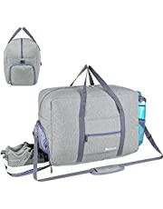 Sports Gym Bag with Wet Pocket & Shoes Compartment, Travel Duffel Bag, Gray (Upgraded Double-Layered)