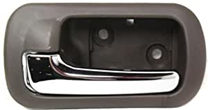 cpp rear driver side brown w chrome interior door handle for 2001 2005 honda civic. Black Bedroom Furniture Sets. Home Design Ideas