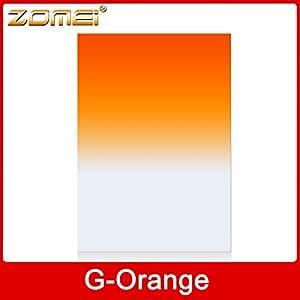 ARBUYSHOP ZOMEI 100 * 150 mm Graduado filtro de color naranja foto cuadrada