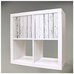Decorativo para muebles para Ikea Expedit (Kallax) Estantería 67,8x 32,6cm con diseño: Blanco bretterzaun