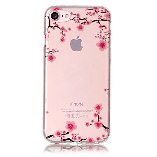 Price comparison product image UCLL iphone 7 Case ,Lovely Plum Case for Iphone7 iPhone 7 Shockproof Case with a Screen Protector