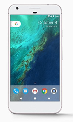 Google Pixel XL (128GB, 4GB RAM) 5.5″ AMOLED HD Display, Global 4G LTE, US Factory Unlocked Model (GSM, Verizon, Sprint) – Very Silver