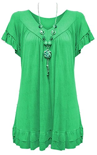4a8c2391d3 Vanilla Inc Camisas Manga Corta para mujer verde menta -elidas.es