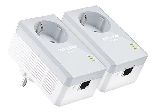 TP-Link TL-PA4010PKIT Powerline-Netzwerkadapter (500Mbps, Fast Ethernet, integrierte Steckdose) 2er Set