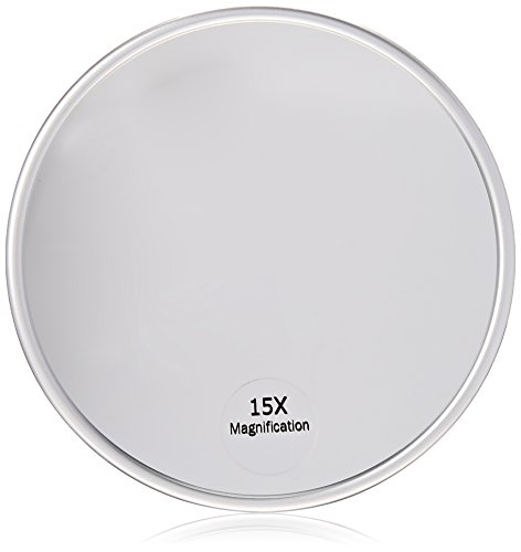 Price comparison product image Harry D Koenig & Co 15x Magnification Mirror with Suction Cup, Round, 5 Inch