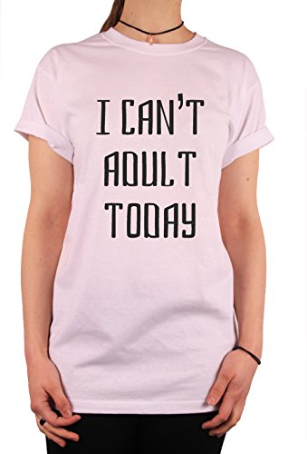 "TheProudLondon I can't adult today"" Unisex T-shirt (Large, White)"
