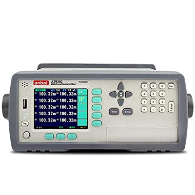 High Accuracy 0.05% 10 Channels Multi-channel Micro Ohm Meter DC Resistance Meter Tester AT5110