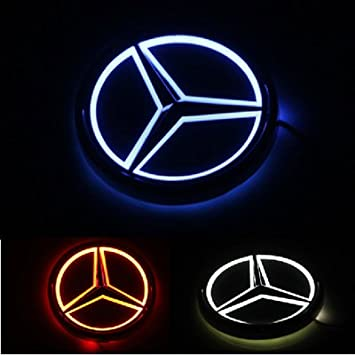 Easybuyrpc - Insignia 5D luminosa LED trasera para Mercedes-Benz, color rojo: Amazon.es: Coche y moto