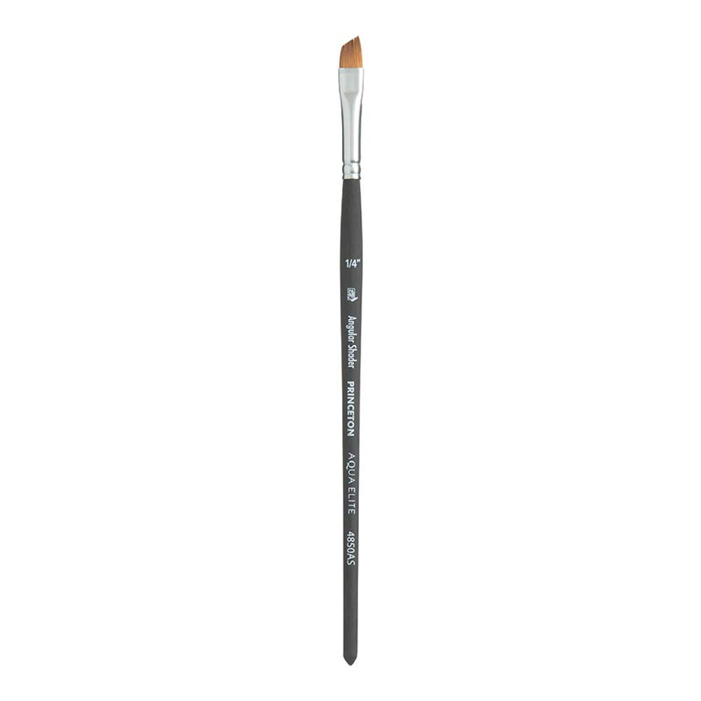 Princeton Aqua Elite NextGen Artist Brush, Series 4850 Synthetic Kolinsky Sable for Watercolor, Angle Shader, Size 1/4
